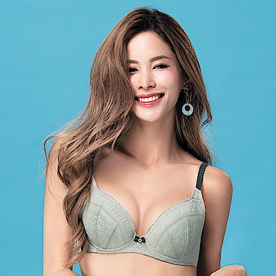 莎薇-O感覺好儷hide  D-F 罩杯內衣(灰綠)舒適柔感塑型
