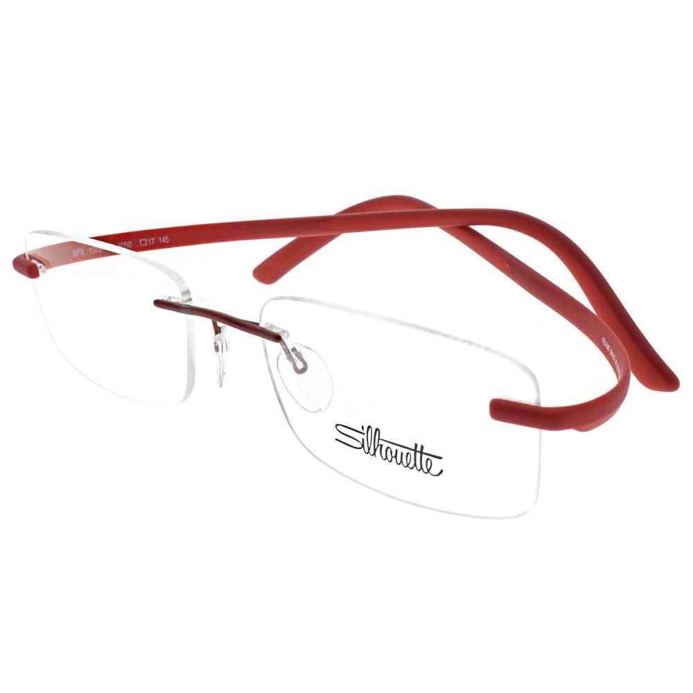 Silhouette詩樂眼鏡 質感無框/紅 #ST1569-40 6050