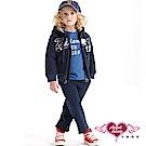 天使霓裳 運動甜心 Friend92連帽外套長褲兩件組童裝套裝(深藍)