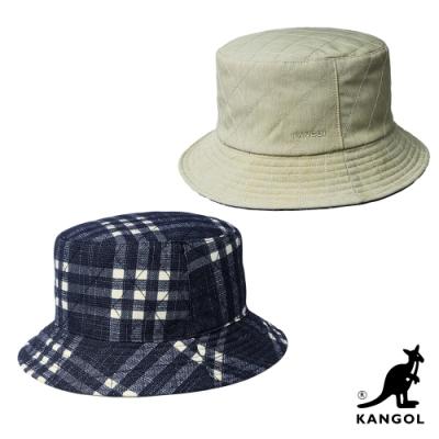 KANGOL-雙層漁夫帽-卡其