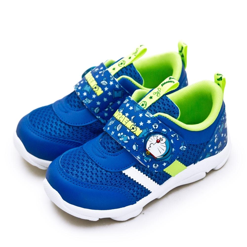 Doraemon 哆啦A夢 兒童電燈運動鞋 藍螢綠 90716