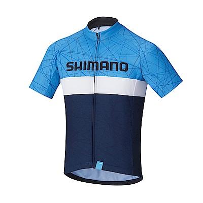 【SHIMANO】TEAM 短袖車衣 海軍藍