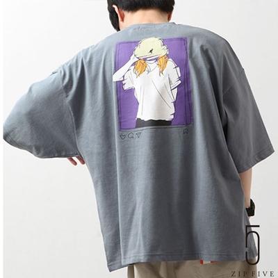 ZIP日本男裝 KANGOL別注PO文風插畫印刷BIG短袖TEE (6色)