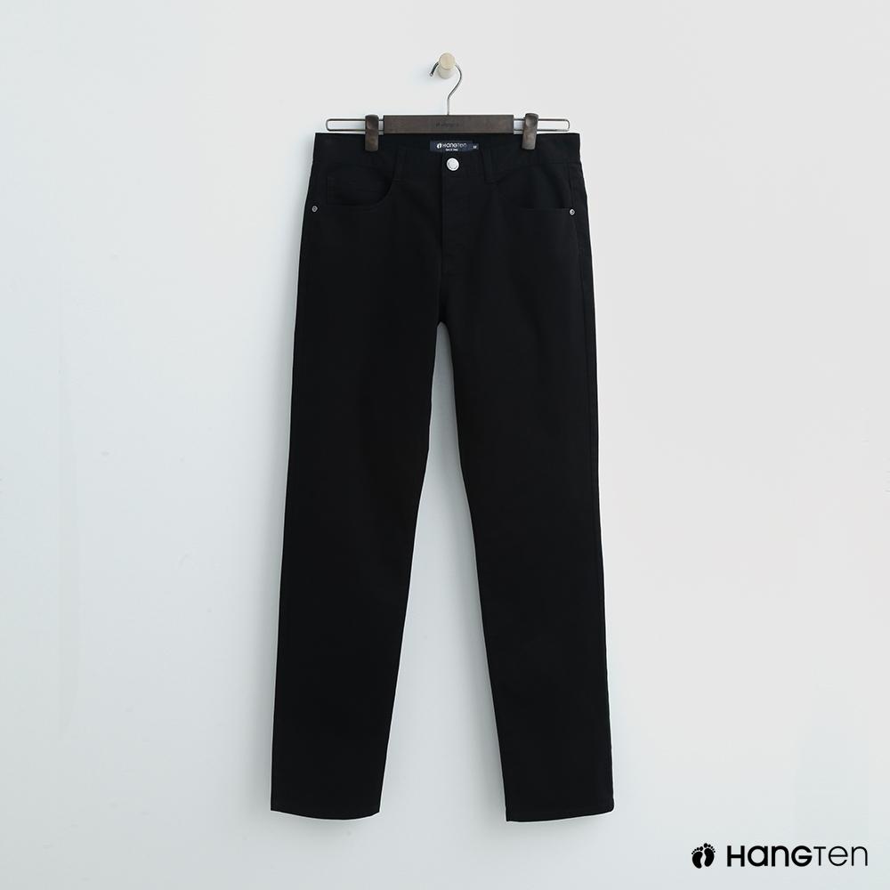 Hang Ten - 男裝 -純色休閒直筒褲-黑