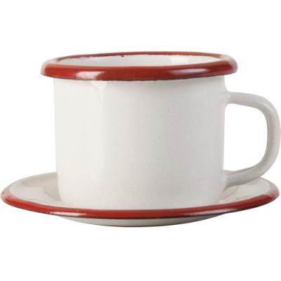 《IBILI》琺瑯濃縮咖啡杯碟組(紅80ml)