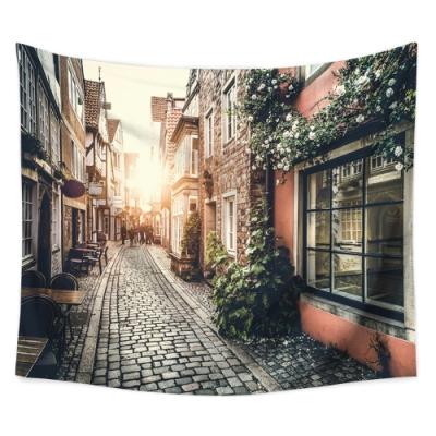 半島良品 北歐風裝飾掛布-街景系列/義大利街景 150x130cm