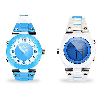 colore TWINS錶現心情錶出個性錶現時尚炫彩數位指針錶M03