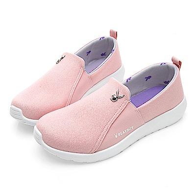 PLAYBOY 魅力風采亮蔥布懶人鞋-粉-Y521899