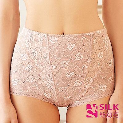 【SILK絲幼克】100%純蠶絲360度環體加壓塑身雕塑蕾絲女內褲