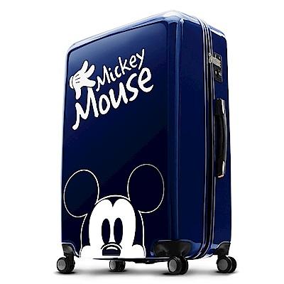 Disney 米奇奇幻之旅 24吋PC鏡面拉鍊箱-藍色