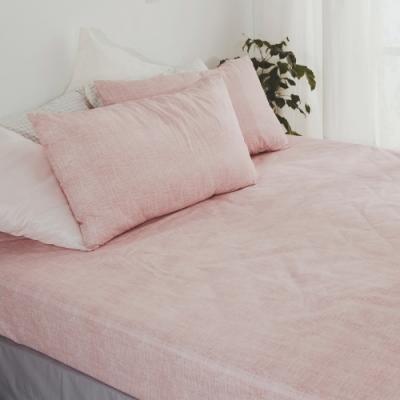 絲薇諾 MIT精梳純棉 櫻粉 雙人加大6尺三件式-床包枕套組