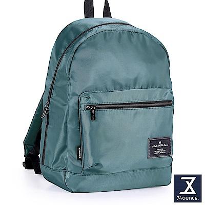 74盎司 Simple 多夾層設計後背包[LG-796]湖水綠