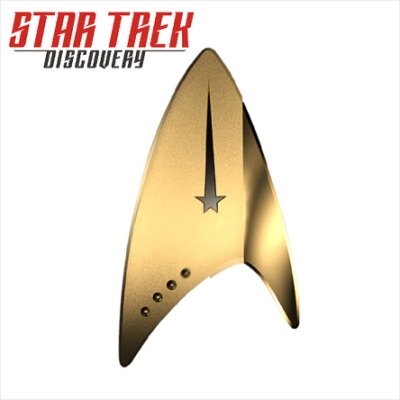 星際爭霸戰 Star Trek : 發現號 徽章 32GB隨身碟(金色)