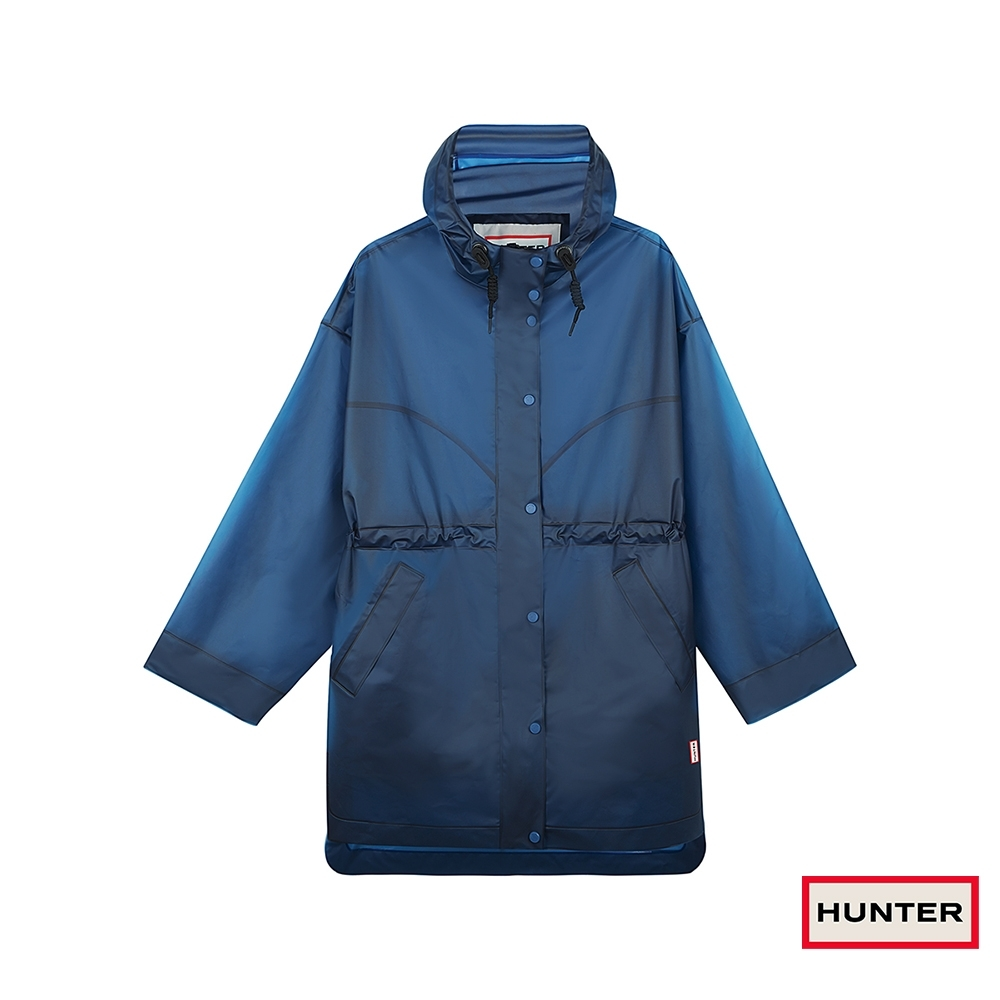 HUNTER - 女裝-長版連帽外套 - 藍