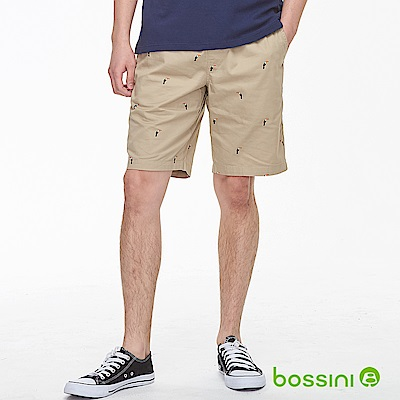 bossini男裝-印花輕便短褲01淡茶色