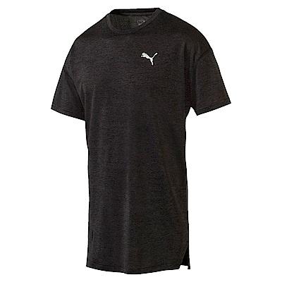 PUMA-男性訓練系列Energy素面短袖T恤-黑色(麻花)-歐規
