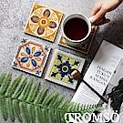 TROMSO 復古花磚杯盤墊4入組-羅馬彩窯