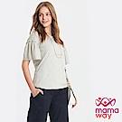 Mamaway  荷葉袖哺乳上衣(共2色)