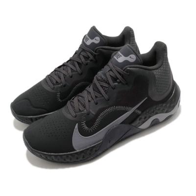 Nike 籃球鞋 Renew Elevate NBK 男鞋 輕量 避震 支撐 包覆 運動 球鞋 黑 灰 CK2670001