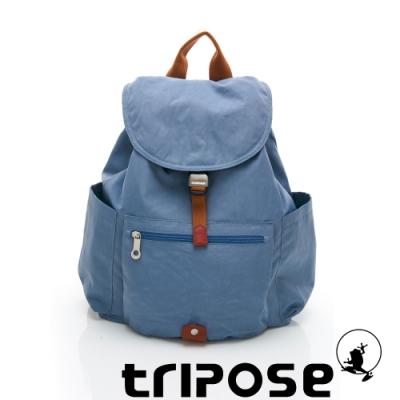 tripose MEMENTO系列微皺尼龍經典輕量後背包(大) 天空藍