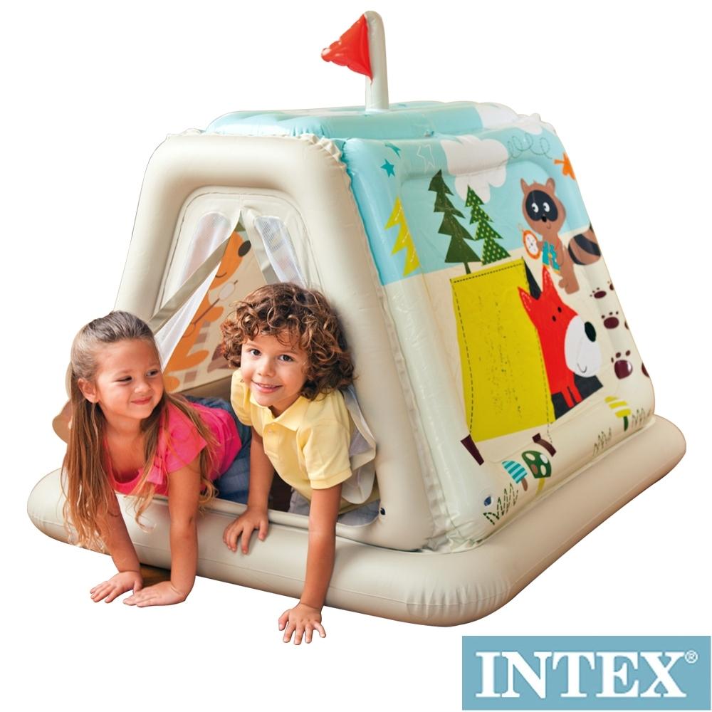 【時時樂限定】INTEX幼童款-室內帳篷/充氣式遊戲帳篷(48634)