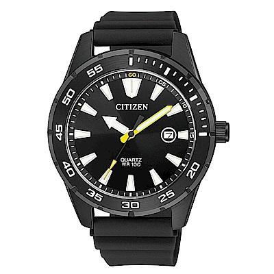 CITIZEN星辰 運動時尚百米防水橡膠手錶(BI1045-13E)