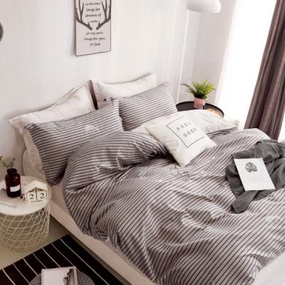DUYAN竹漾-100%精梳純棉-單人三件式舖棉兩用被床包組-尋找洛可可 台灣製