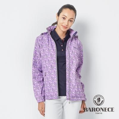BARONECE 百諾禮士休閒商務  女裝 印花防風防潑水保暖外套-紫色(2196797-25)