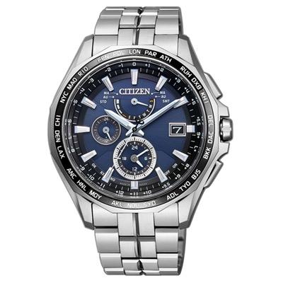 CITIZEN Eco-Drive 航空地堡時尚電波腕錶(AT9090-53L)