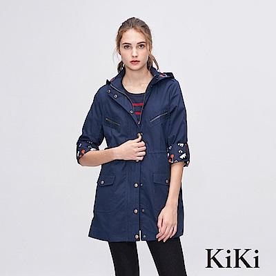 KiKi INLook 童趣感隱藏版印花軍裝外套(深藍色)