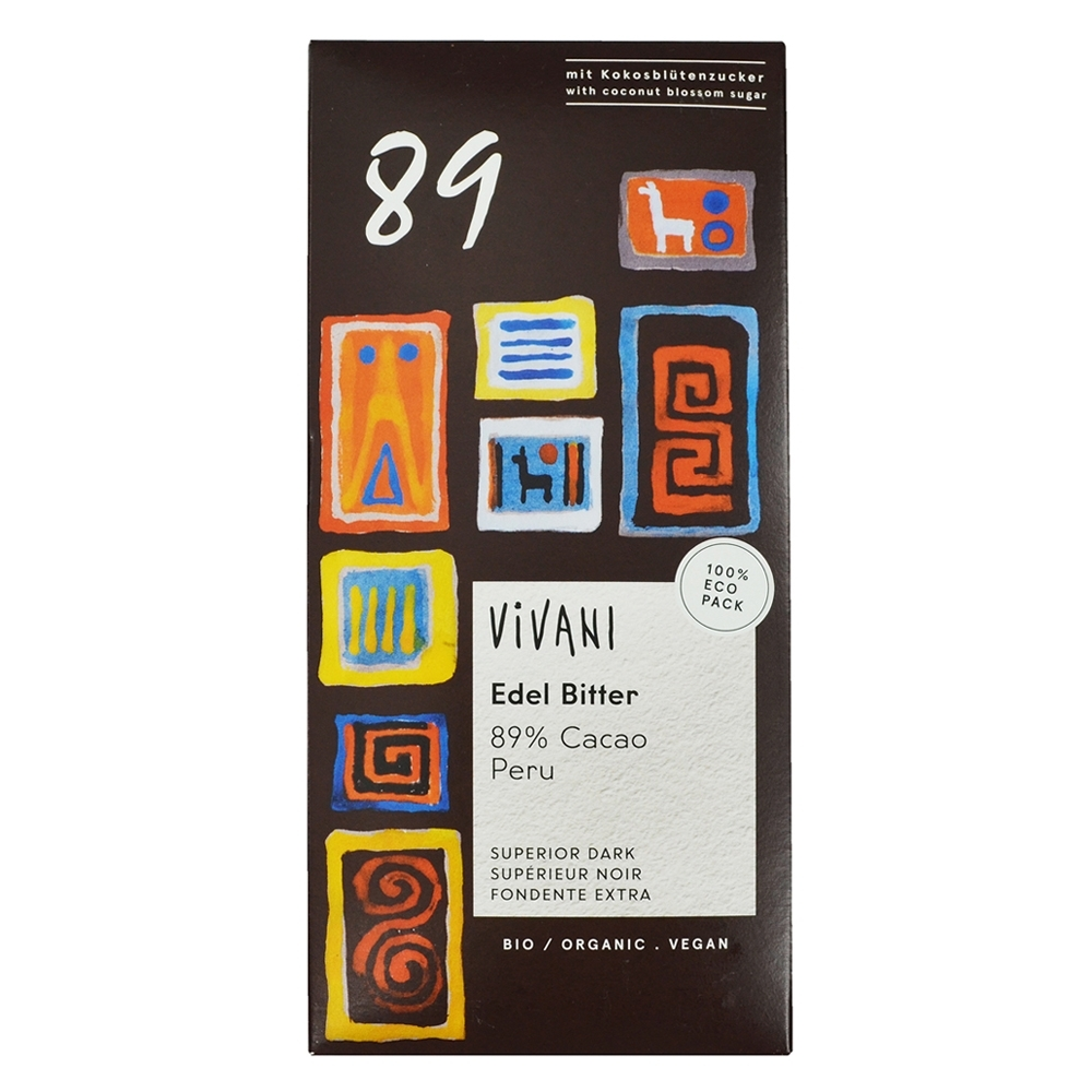 Vivani  有機89%黑巧克力片(80g)