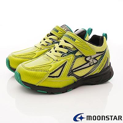 日本月星頂級競速童鞋 防水防滑系列 EI707黃綠(中大童段)
