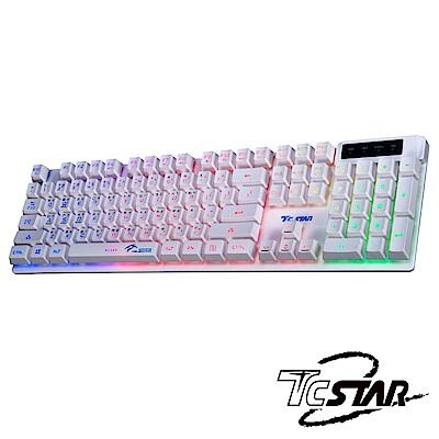 TCSTAR 七彩光電競鍵盤-白色 TCK700WE