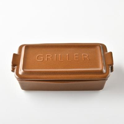 日本Meister Hand TOOLS 迷你方形烤盤 (附蓋) 焦糖棕
