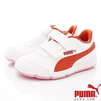 PUMA童鞋 經典雙絆帶款 ON92522-05白橘(中小童段)