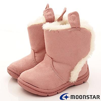 日本Carrot機能童鞋 WAGAMAMA設計暖靴款964粉紅(寶寶段)