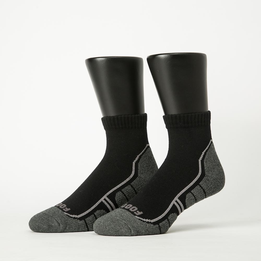 Footer除臭襪-流線型氣墊減壓科技襪-六雙入(黑*6)