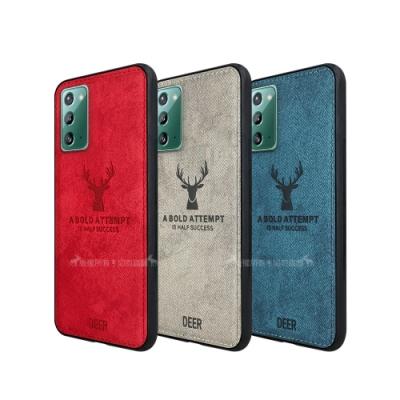 DEER 三星 Samsung Galaxy Note20 5G 北歐復古風 鹿紋手機殼 保護殼 有吊飾孔