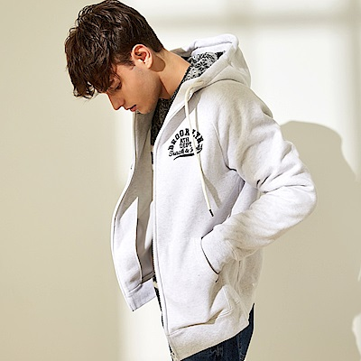 CACO-雪花帽刷毛外套(兩色)-男【QAR110】
