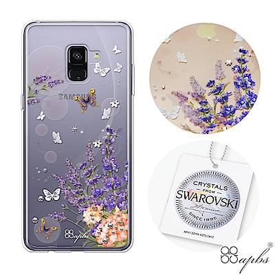 apbs Samsung Galaxy A8+ 2018 施華彩鑽防震雙料手機殼...