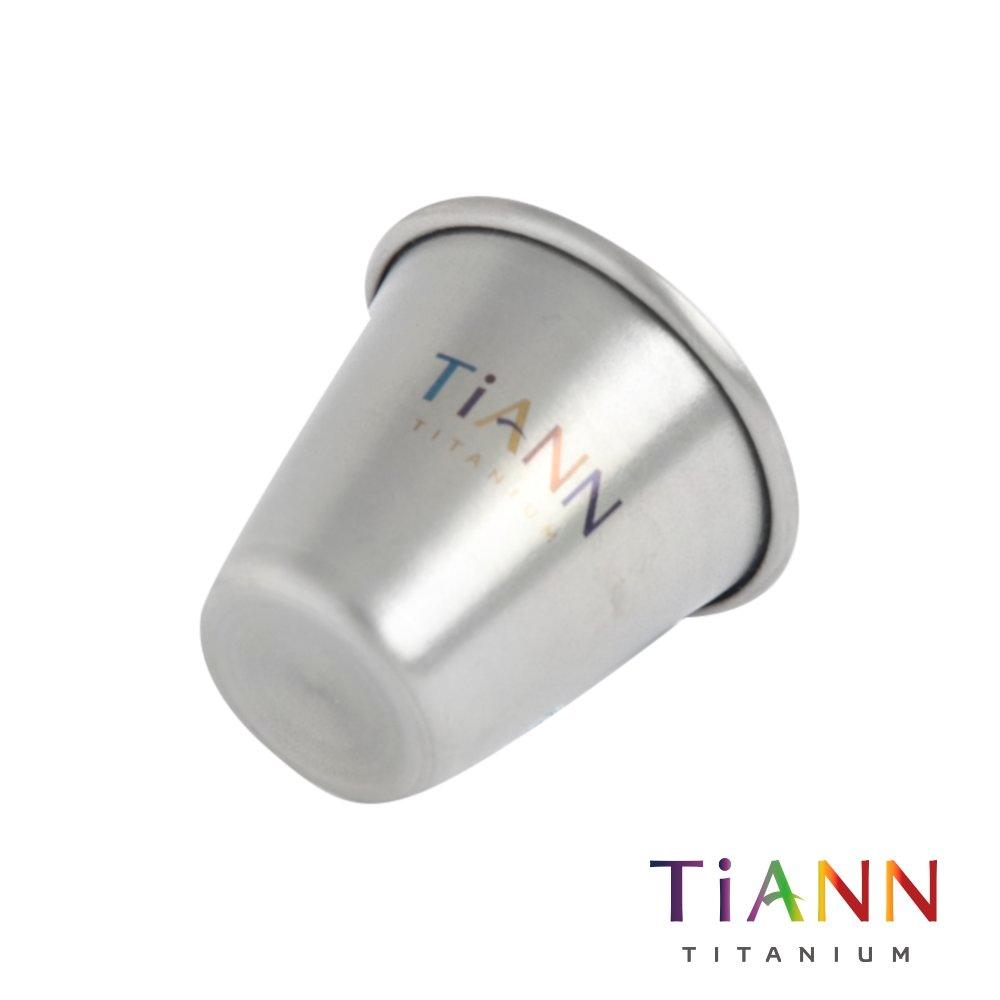 TiANN 鈦安純鈦餐具 一口杯/迷你鈦杯 20ml (快)