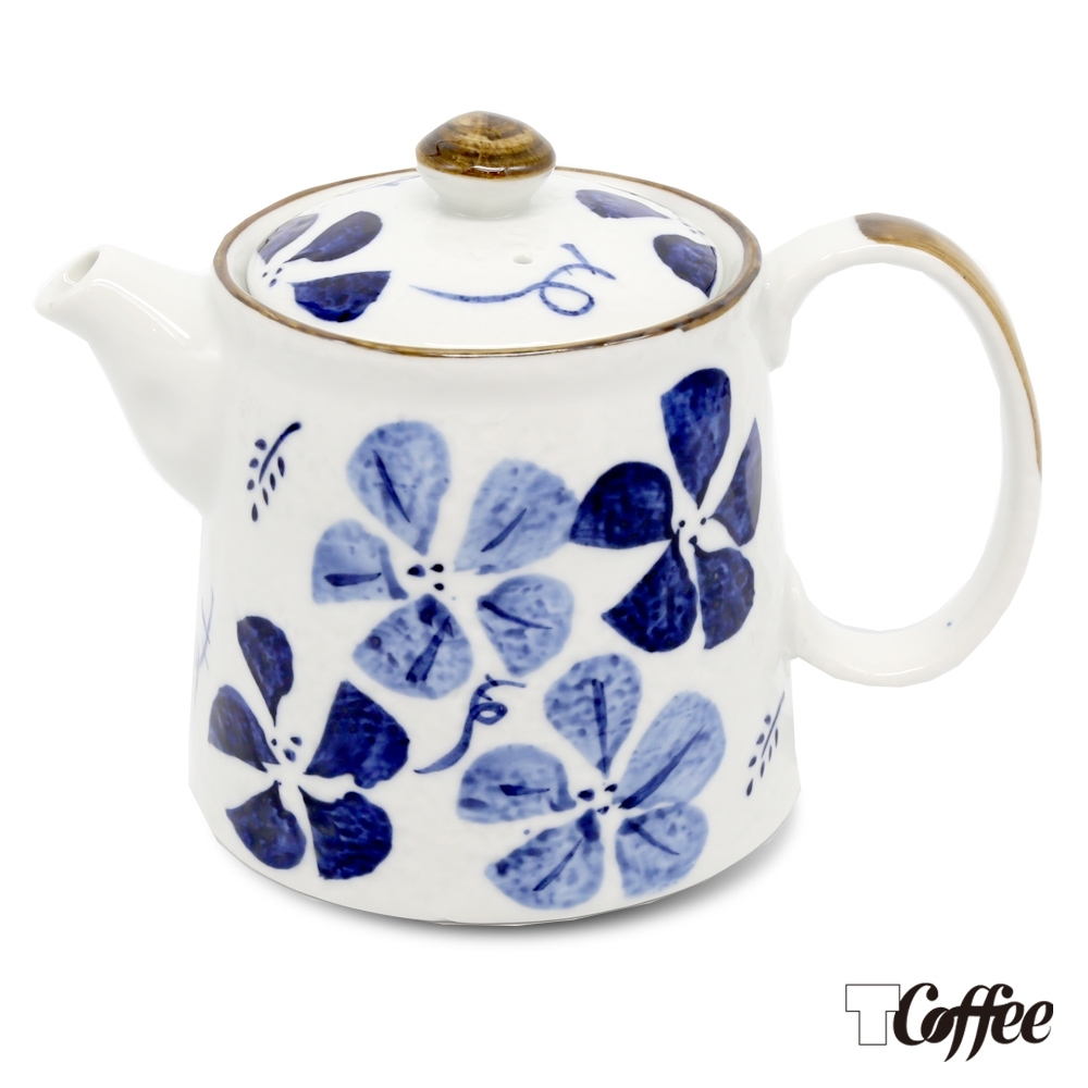 TCoffee MILA-日式手繪咖啡壺 古染花500ml