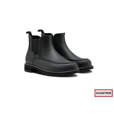 HUNTER - 男鞋-Refined馬克霧面踝靴-黑色
