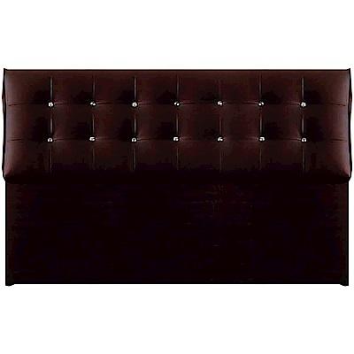 綠活居 波爾時尚5尺水鑽皮革雙人床頭片(三色可選)-153x20x99cm免組