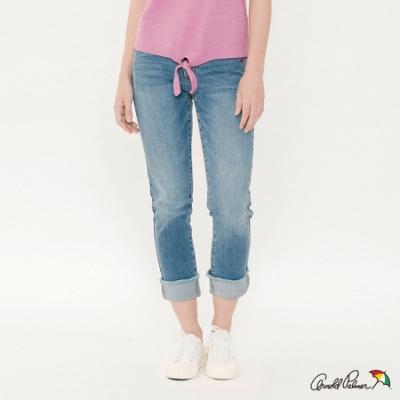 Arnold Palmer -女裝-超彈直筒反摺牛仔褲-藍色