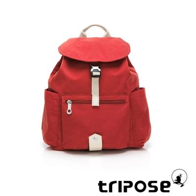 tripose MEMENTO微皺尼龍輕量後背包-小(番茄紅)