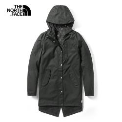 The North Face北面女款黑色戶外防水透氣衝鋒衣|3VU4JK3