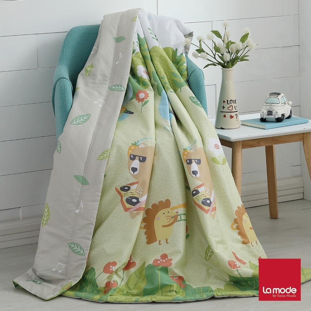La mode寢飾 環保印染100%精梳純棉涼被-單人(2件組) product image 1