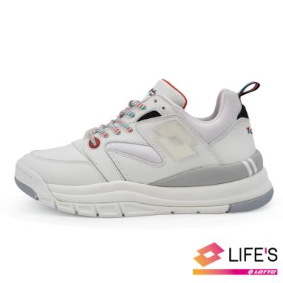 LOTTO 義大利 女 義式復古老爹鞋 (白)