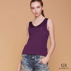 GLORY21 V領彈性背心_深紫